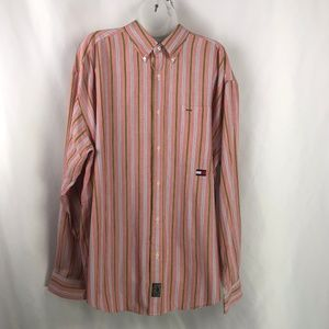 Tommy Hilfiger Light Red Button Down EUC